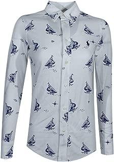 POLO RALPH LAUREN Women's Knit Oxford Shirt - - X-Small
