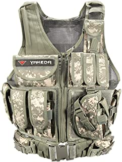 YAKEDA Tactical Vest Outdoor Ultra-Light Breathable Combat Training Vest Adjustable for Adults 600D Encryption Polyester-VT-1063