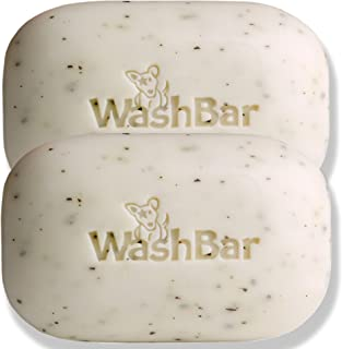 WashBar Natural Dog Shampoo Bar - Soap For Dry, Itchy or Sensitive Skin, Easier to Use Than Liquid Shampoo With No Plastic Bottle Waste, Twinpack