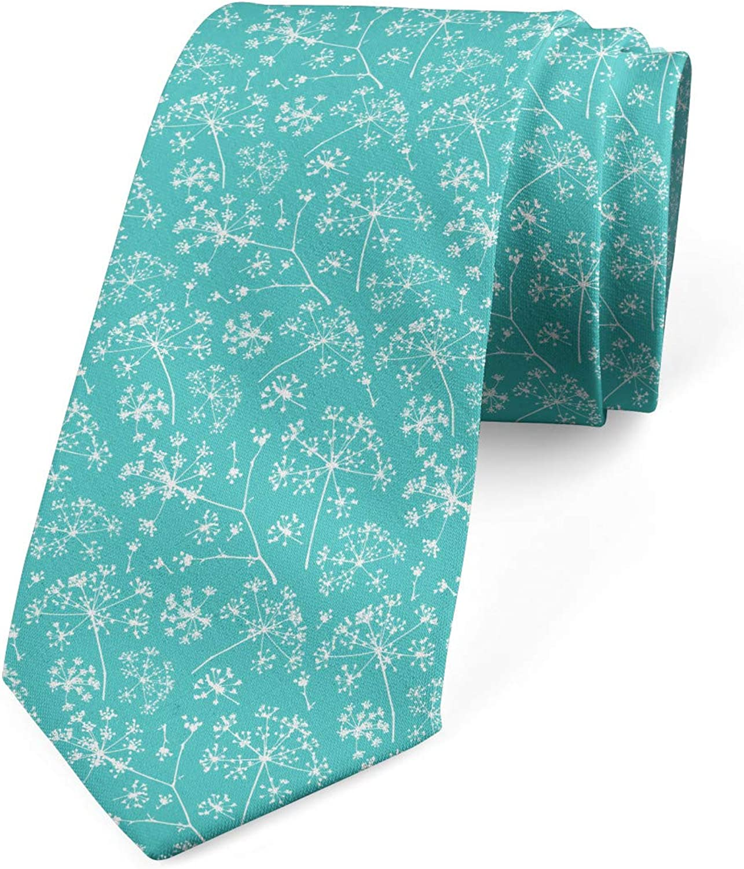 Lunarable Men's Tie, Herb Branch Silhouette, Necktie, 3.7