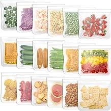 Reusable Food Storage Bags - 18 Pack BPA Free Reusable Sandwich Bag Leak Proof Reusable Freezer Bag Extra Thick Reusable S...