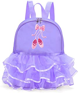 Z&X Girl's Ballet Dance Duffel Bags Ballet Shose Tutu Dress Dance Backpack with Lace for Ballerina
