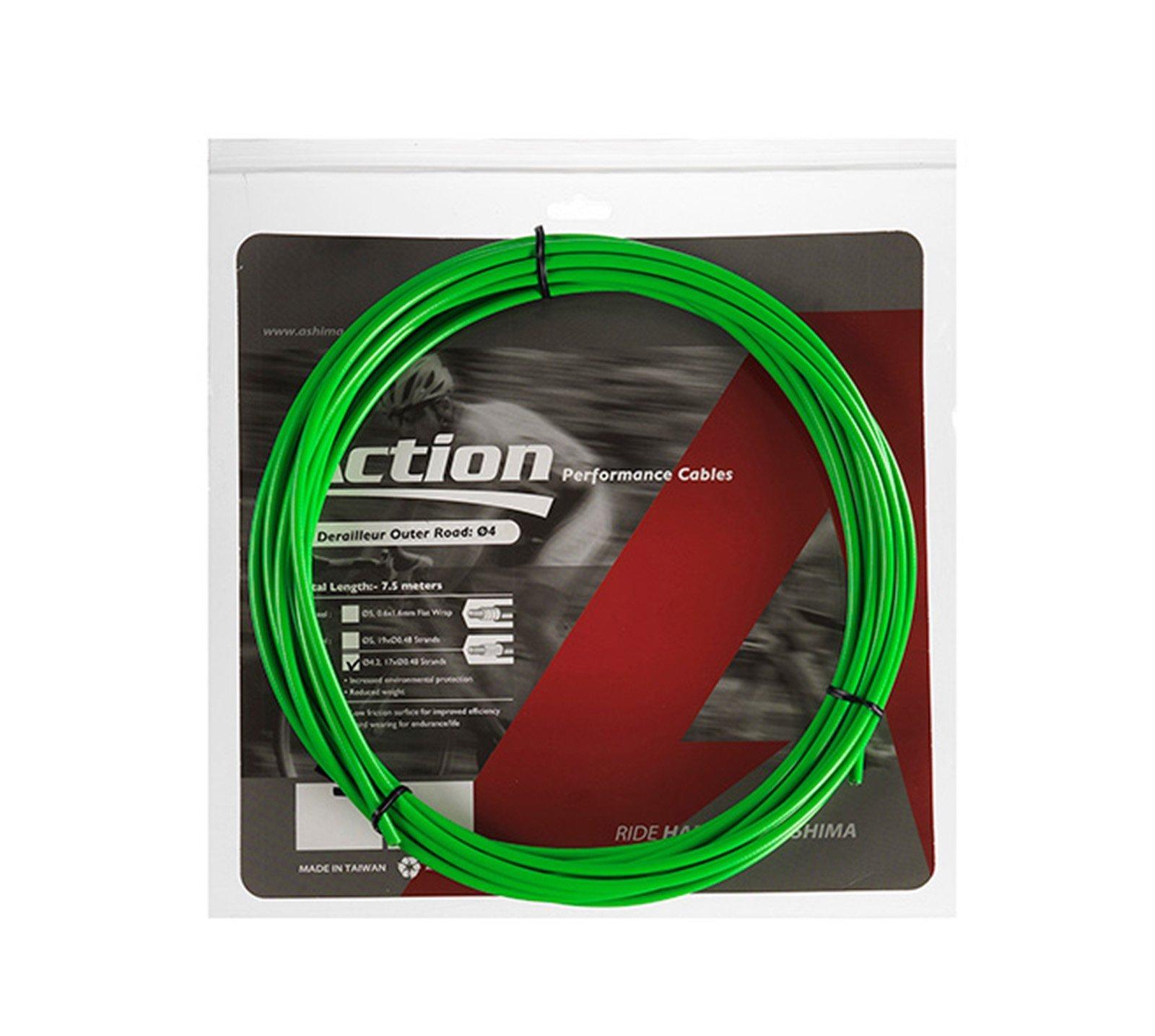 Funda Color VERDE para Cable de Freno de Bicicleta 7.5 metros ...