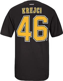 Reebok David Krejci Boston Bruins Black Name and Number T-Shirt