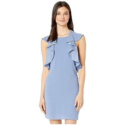 BCBGMAXAZRIA Day Short Woven Dress (Misty Blue) Women