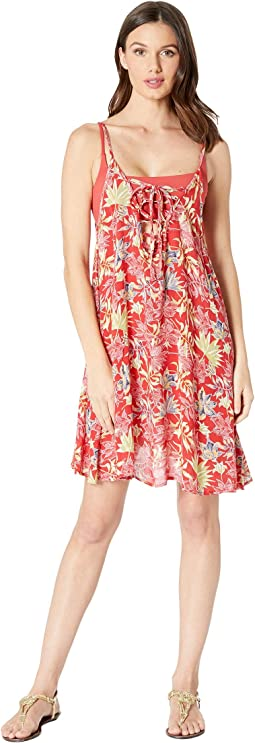 Printed Softly Love Cover-Up Swimsuit Dress