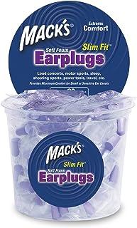 Macks Slim Fit Soft Foam Earplugs, 100 Pair Tub
