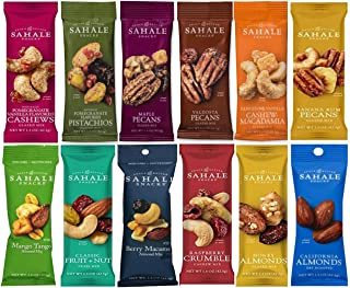 Sahale Snacks All Natural Nut Blends Grab And Go Variety 12-Flavors (1.5 oz x 12 CT Packs)