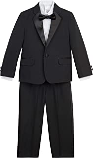 Nautica Boys N337227-001 Tuxedo Set with Jacket, Pant, Shirt, and Bow Tie Long Sleeve Tuxedo