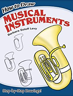 musical instruments to draw