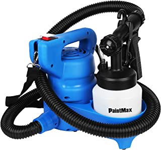 PaintMax Electric Paint Sprayer Gun. 3 Different Spray Patterns, Adjustable Valve Knob, Quick Refill Lid, 800ml Detachable Container- Indoor Outdoor Home Furniture Garage Fence Deck Precise Paint