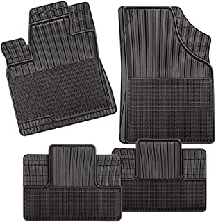 CarFashion 281134 All Weather Monza CD2 Set of 4 TPE Rubber Black Car Floor Set without Mat Holder, 4-piece