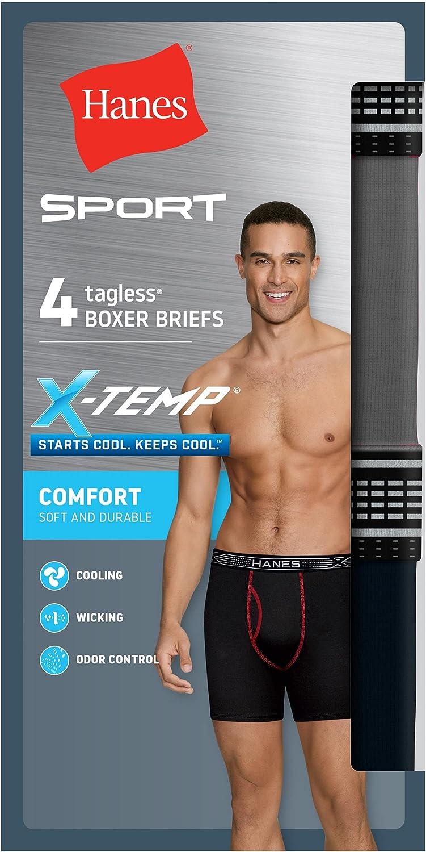 Hanes Ultimate Men's Sport X-Temp Comfort Boxer Brief 4-Pack