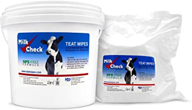 Milk Check Teat Wipe Two Pack, 1 Pail 1 Refill, 1,400 Wipes Total