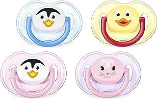 Philips AVENT飞利浦新安怡不含BPA动物安抚奶嘴,0-6个月,风格和颜色可能会有所不同,2件装