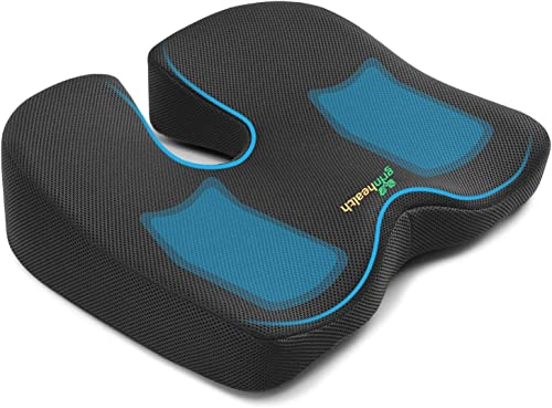 Grin Health Non Slip Orthopedic Memory Foam Seat Cushion