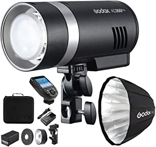 Godox AD300 Pro Studio Flash portátil 300 Ws TTL lámpara de modelado bicolor de alta velocidad 3000K 6500K Retrato estudio...