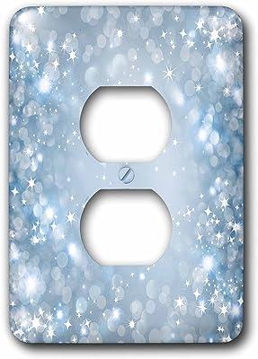 2 Plug Outlet Cover 3dRose lsp/_174558/_6 image of best dad on vintage periwinkle blue background
