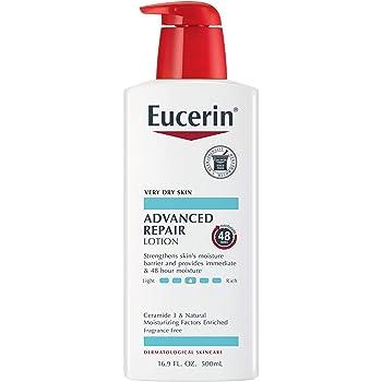 Eucerin Advanced Repair Lotion, Fragrance Free, 16.9 Fl Oz