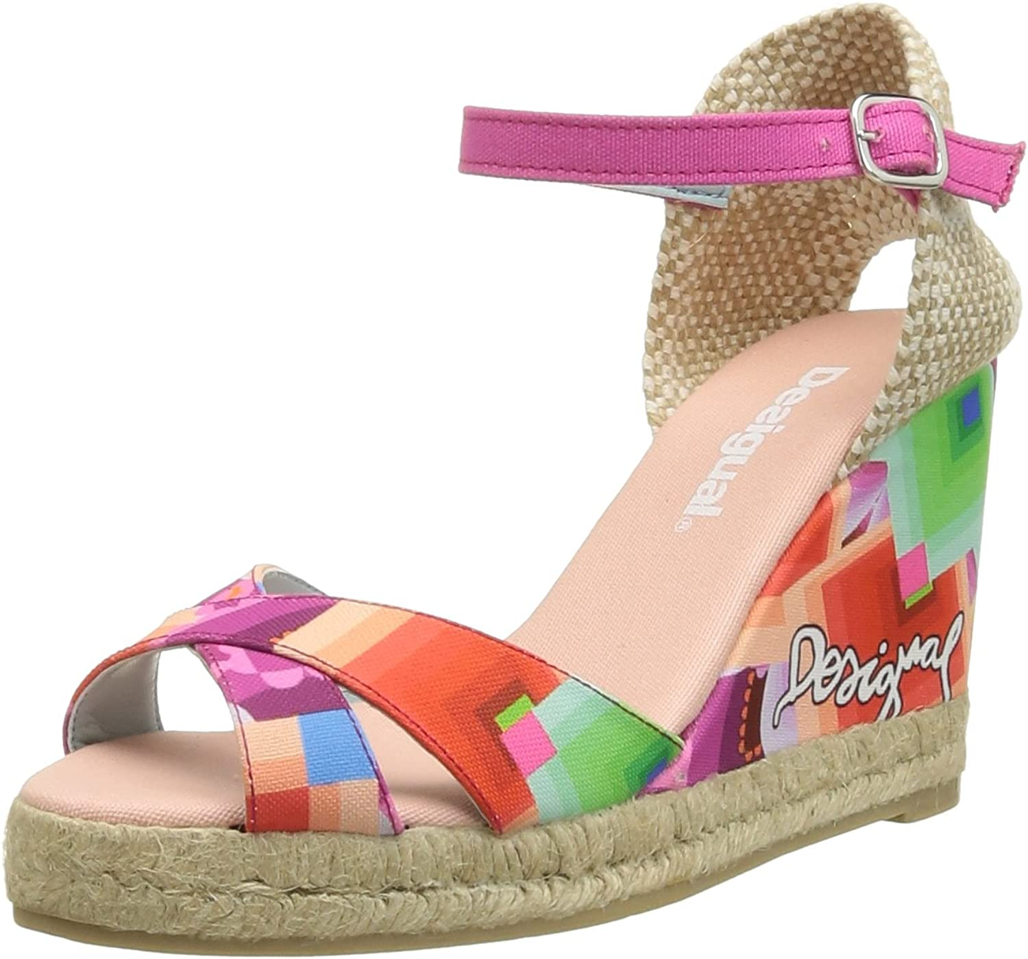 Desigual Women's Galatic Print Wedge Sandal