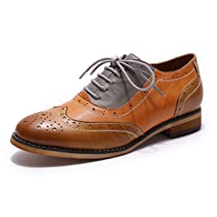 aaff024685 Mona flying Womens Leather Perforated Lace-up Oxfords Brogue .
