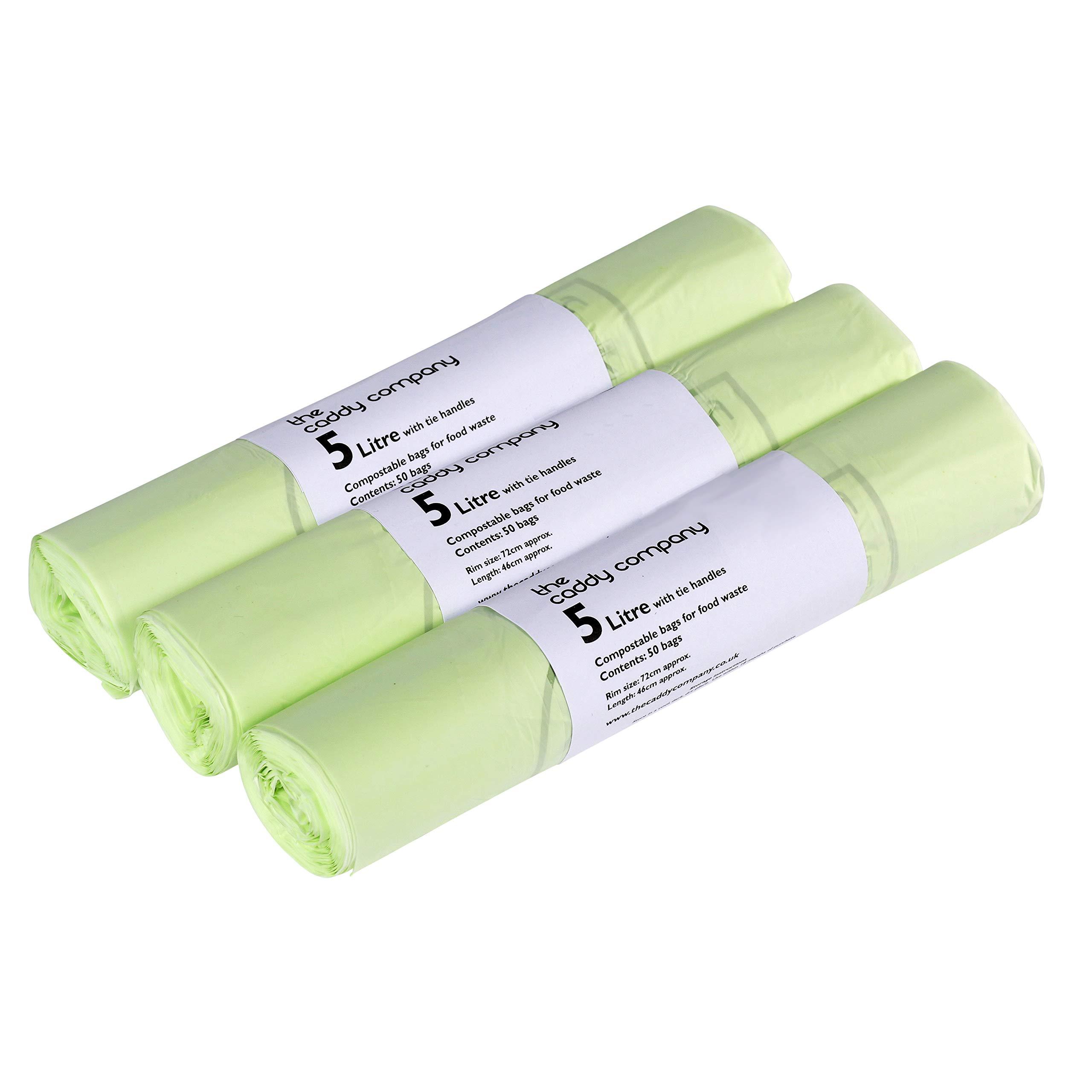 150 bolsas para compost con asas 5 L – bolsas de basura para ...