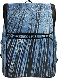 Travel Backpack Tree in The Blue Starry Sky School Backpack for Men Large Carry On Bookbag