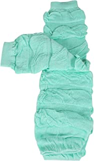 Wrapables Colorful Baby Leg Warmers, striped Ruching light green, One Size