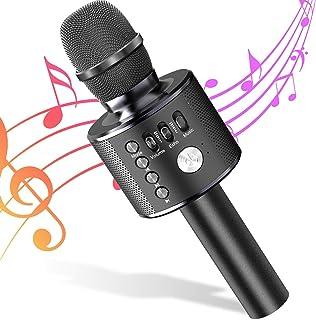 Micrófono de Karaoke Bluetooth Micrófono Inalámbrico 4 en 1 Altavoz de Karaoke Portátil, Micro Máquina para KTV, Karaoke, ...