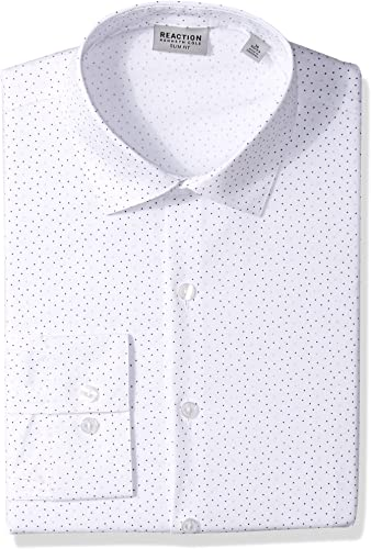 Kenneth Cole REACTION Hommes's Slim Fit Robe Shirt, Drizzle, 14.5  Neck 32 -33  Sleeve