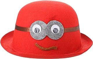 قبعة حفلات شكل وجه مضحك - احمر