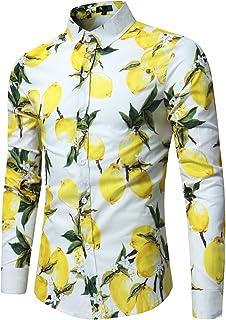 Herenshirt met lange mouwen Mode Fruit Gedrukt Trend Vrije tijd Vakantie Strandfeest Regelmatige kraag Shirt Top