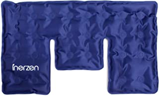 Inerzen Neck and Shoulder Hot and Cold Gel Pad Therapy Wrap for Pain, Muscle, Stress Relief - Microwavable & Freezable