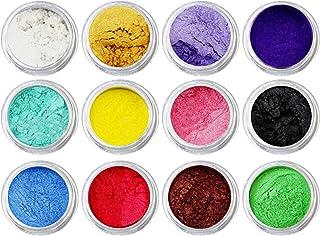 MIYU Manualネイルアートクラフトプロジェクトスライムは用品を作るための個入り混合色着色顔料マイカパールパウダー