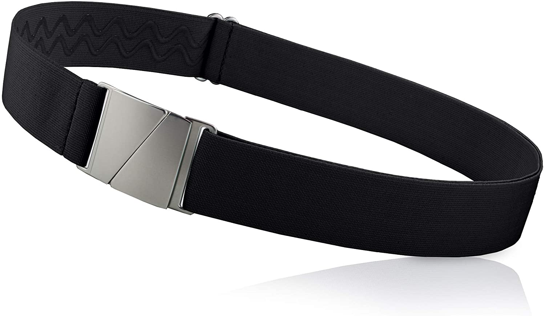 No Show Invisible Elastic Belts for Women & Men Non Slip Fits waist upto 50 Inch.