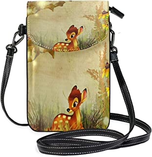 Fall Leaves Autumn Lightweight PU leather Small Crossbody bag Cell Phone Purses with Credit Card Slots for Women