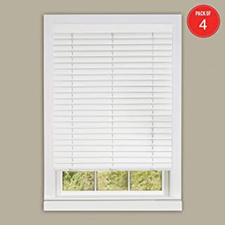 Achim Home Furnishings Luna 2 Vinyl Slat Venetian Cordless Blind with Valance, 30 by 64-Inch, White, 30