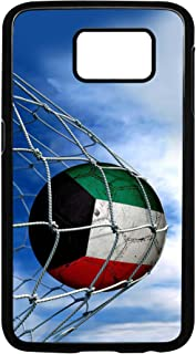Case for Samsung Galaxy S7 with Flag of Kuwait - Soccer Ball in Net - Durable Rigid Plastic