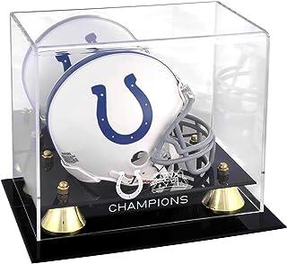 Indianapolis Colts Super Bowl XLI Champions Golden Classic Mini Helmet Logo Display Case - NFL Mini Helmets
