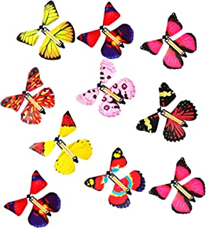WORUIJIA Magic Flying Butterflies Fairy for Surprise Rubber Band Powered Butterfly Wind up Fairy Butterfly Toy for Surpris...