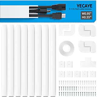 Wire Hider - Cord Cover Raceway Kit - Cable Management Channel - 125in Cable Concealer for Mount TV System - Paintable On-...