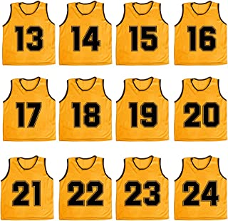 Numbered/Blank Scrimmage Team Practice Mesh Jerseys Vests Pinnies (12-Pack)