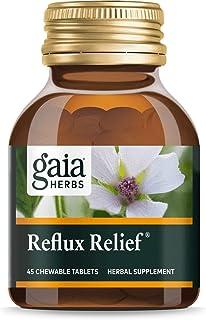 Gaia Herbs Rapidrelief Reflux Relief Tablets, 45 Count (3 Bottles)