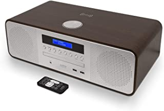 AUDIBLE FIDELITY Complete Hi-Fi DAB/DAB+ Stereo System CD Player with Speakers, Bluetooth, MP3 Playback, FM & Digital Radi...