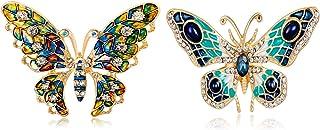 Broche,Broche de Mariposa de Color,Hermoso Broche de Insectos, Elegante Broche,Adorno Mujeres y Hombres,con Una Hermosa Ca...