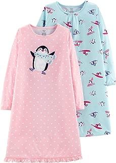 Little Girls' 2-Pack Penguin Nightgowns, 2/3 Kids