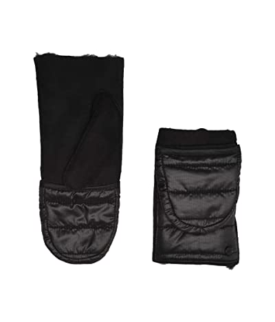 UGG Water Resistant Sheepskin All Weather Flip Mitt (Black) Extreme Cold Weather Gloves
