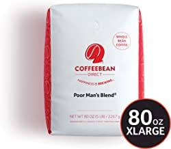 Coffee Bean Direct Poor Man's  Blend® Coffee, Medium Roast, Whole Bean, 5 Pound