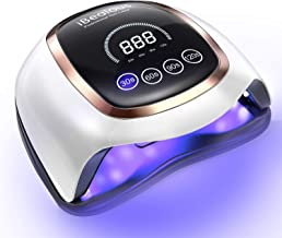 UV LED Nail Lamp, iBealous 168W Professional Fast Gel Nail Polish Dryer Curing Lamp for Gel Polish Salon Quality Nail Ligh...