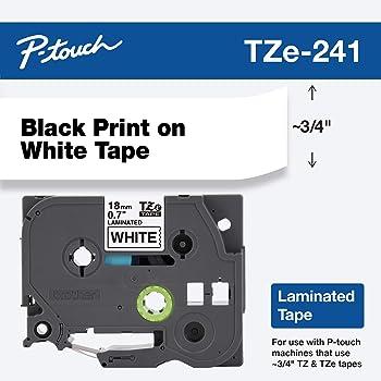 tape cartridge TZ2 TZE TZ 541 black on blue 18mm x 8m fits TZ BROTHER labeller